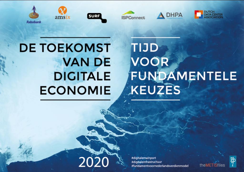 """Titelpagina van onderzoek """"De toekomst van de digitale economie"""""""